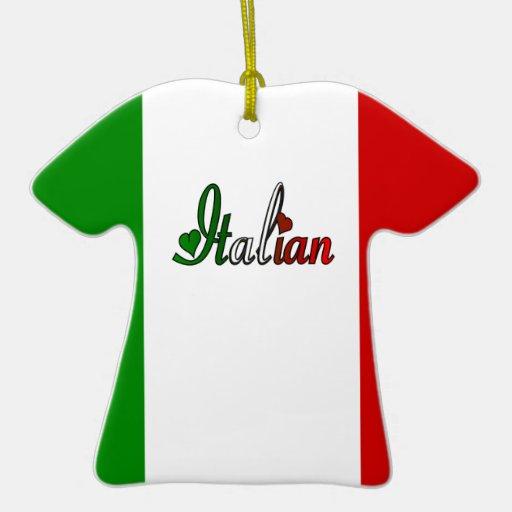 Italiano Adorno Navideño De Cerámica En Forma De Playera