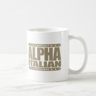 ITALIANO ALFA - soy padre de familia muy leal, oro Taza Básica Blanca