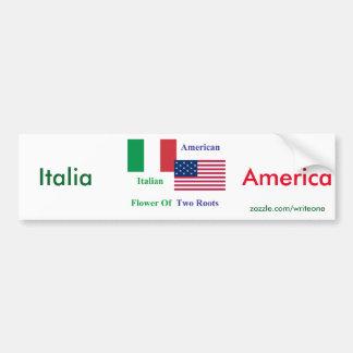Italiano-Americano Pegatina Para Coche