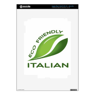 Italiano amistoso de Eco iPad 3 Pegatinas Skins