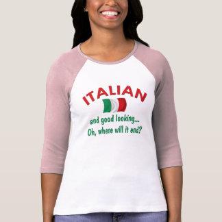 Italiano apuesto camisetas
