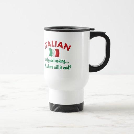 Italiano apuesto tazas de café