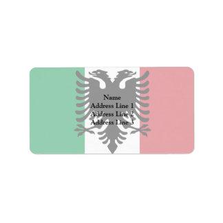 Italiano Arberesh, bandera de Italia Etiquetas De Dirección