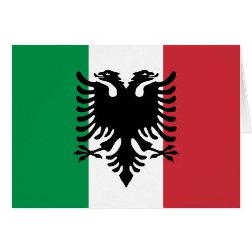 Italiano Arberesh, bandera de Italia Tarjeta De Felicitación