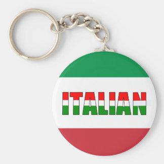 Italiano-Bandera de Italia Llavero Redondo Tipo Pin