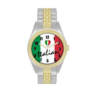 Italiano-Bandera de Italia Relojes De Mano