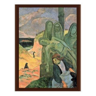 Italiano: Calvario Breton (Il Cristo Verde), Postcard