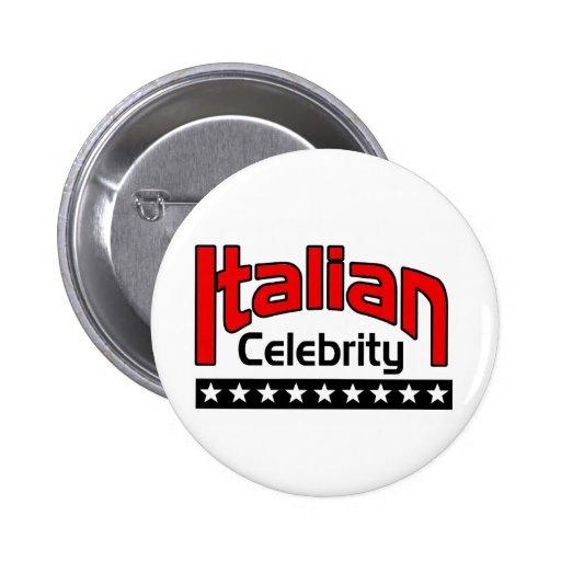Italiano Celbrity Pin Redondo 5 Cm