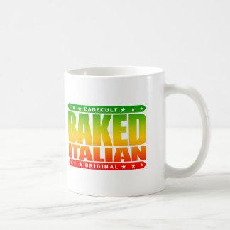 ITALIANO COCIDO - ame mi pizza con los desmoches Taza Básica Blanca