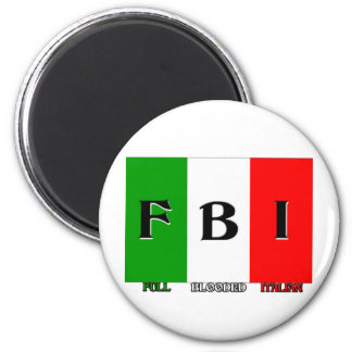 Italiano completo del FBI Blooded Imán Redondo 5 Cm