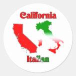 Italiano de California Etiquetas Redondas