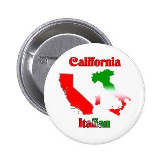 Italiano de California Pin Redondo De 2 Pulgadas