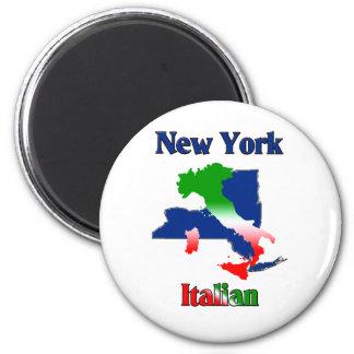Italiano de Nueva York Imán Redondo 5 Cm