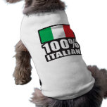 Italiano del 100% camiseta de perro