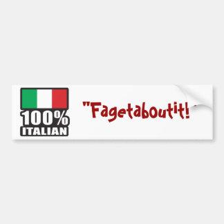 Italiano del 100% etiqueta de parachoque