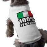 Italiano del 100% playera sin mangas para perro