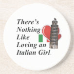 Italiano del amor de la CAMISETA Posavasos Diseño