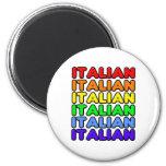 Italiano del arco iris imán para frigorífico