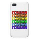 Italiano del arco iris iPhone 4/4S carcasa