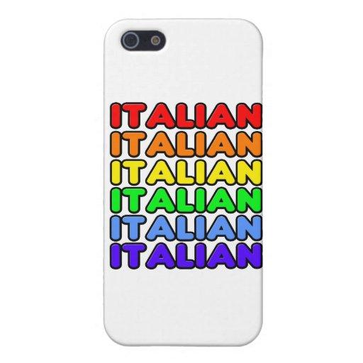 Italiano del arco iris iPhone 5 coberturas