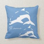 Italiano del ~ del amo del Ti te amo, delfínes bl. Cojines