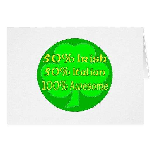Italiano del irlandés el 50% del 50% el 100% impre tarjeta de felicitación