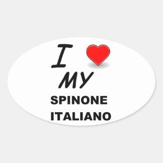 italiano del spinone calcomania óval