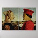Italiano: Di Federico da Montefeltro, palo de Ritr Posters