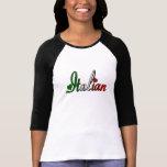 Italiano elegante camisetas