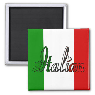 Italiano elegante imán cuadrado