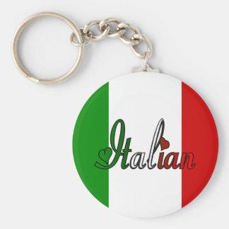 Italiano elegante llavero redondo tipo pin
