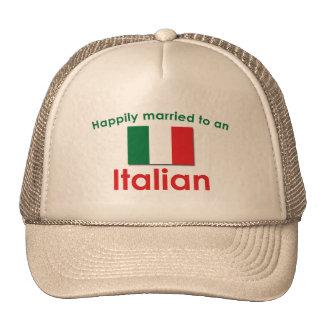 Italiano feliz casado gorra