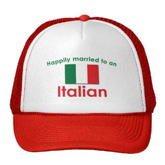 Italiano feliz casado gorras de camionero