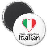 Italiano feliz casado imanes para frigoríficos