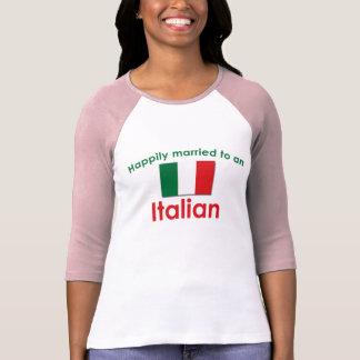 Italiano feliz casado tshirts