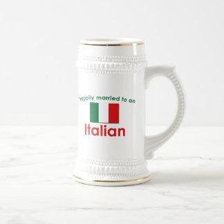 Italiano feliz casado taza