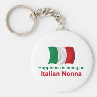 Italiano feliz Nonna Llavero Redondo Tipo Pin