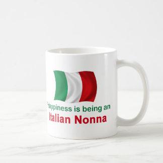 Italiano feliz Nonna Taza Básica Blanca