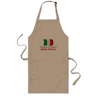 Italiano feliz Nonno Delantal Largo