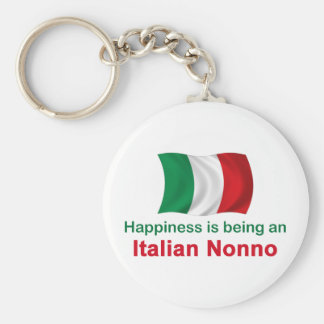 Italiano feliz Nonno Llavero Redondo Tipo Pin