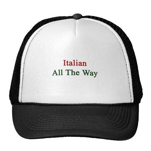 Italiano hasta el final gorros