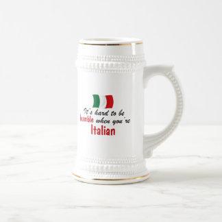 Italiano humilde tazas de café