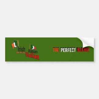 Italiano irlandés pegatina para auto