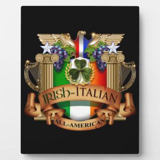 Italiano irlandés todo americano placa de madera