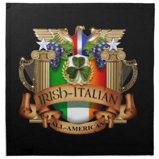 Italiano irlandés todo americano servilleta