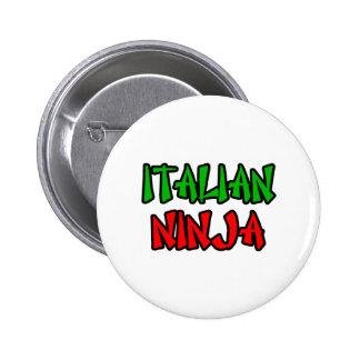 Italiano Ninja Pin Redondo De 2 Pulgadas