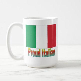 Italiano orgulloso tazas de café