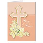 Italiano Pascua, flores y cruz, Buona Pasqua Tarjeta