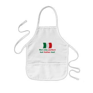 Italiano perfecto delantal infantil