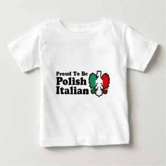 Italiano polaco playera de bebé